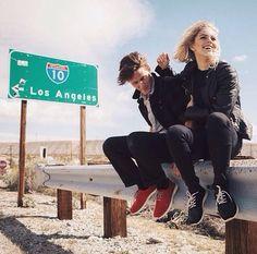 Los Angeles, road trip with him.  #boyfriend #couple