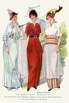 1914 The Three Smart Silhouettes