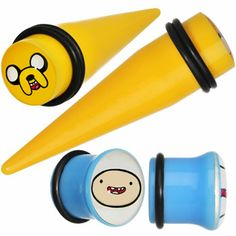 """1/2"""" Acrylic Licensed Adventure Time Plug and Taper Set   Body Candy Body Jewelry"""