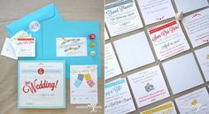board game wedding invitation