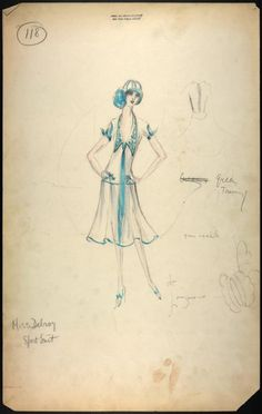 Charles Le Maire costume designs for the Greenwich Village follies (1925 and 1926)