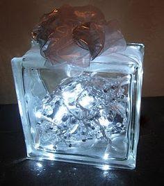 DIY Lighted Glass Block for Christmas