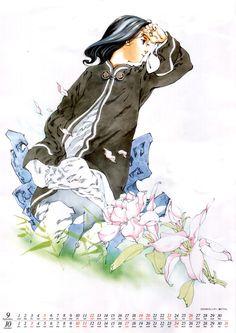 Naaa~ Not my scan. But I do love Taiki ^. Manga Art, Manga Anime, Character Concept, Character Design, Concept Art, The Twelve Kingdoms, Old Anime, Anime Style, Aesthetic Anime