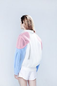 pastel textures / bomber #spring #style