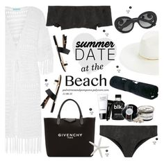 """""""Summer Date: The Beach"""" by palmtreesandpompoms ❤ liked on Polyvore featuring Melissa Odabash, Janessa Leone, Prada, Lisa Marie Fernandez, The Upside, Givenchy, Chanel, Bobbi Brown Cosmetics, beach and summerdate"""