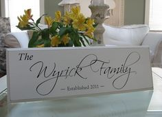 Family Name SignCarved Personalized Family by SignsofaDaydreamer, $37.00