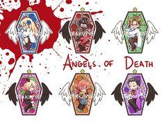 puras imágenes de satsuriku no tenshi (殺戮の天使) y sus personajes # De Todo # amreading # books # wattpad Chica Anime Manga, Me Anime, Anime Love, Kawaii Anime, Anime Art, Angel Of Death, Angel S, Anime Angel, Fanart