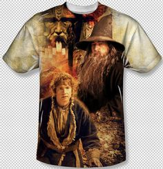 7a81643b The Hobbit 2 Movie Bilbo & Gandalf All Over Front Sublimation Youth T- shirt