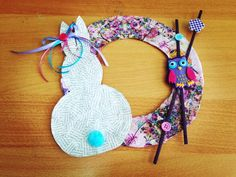 Spring/Easter wreath from paper...