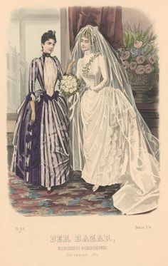 Der Bazar 1887 Wedding dress