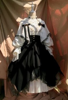 Time Temple -The Night Prayer- Vintage Gothic Lolita Skirt,Lolita Dresses, Old Fashion Dresses, Old Dresses, Vintage Dresses, Pretty Outfits, Pretty Dresses, Beautiful Dresses, Lolita Gothic, Mode Ulzzang, Fantasy Dress