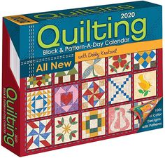 Quilting Block and Pattern-a-Day 2020 Calendar - Kalender bestellen Colchas Quilt, Book Quilt, Quilt Blocks, Easy Quilts, Mini Quilts, Scrappy Quilts, Vigan, Paper Piecing, Pattern Blocks