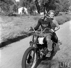 Bike Couple 1949 by Loomis Dean