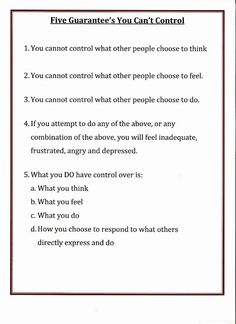 Lorinda-Character Education: Five Guarantee's You Can't Control changing positive thought pattern with radical acceptance Therapy Worksheets, Therapy Activities, Cbt Worksheets, Counseling Activities, School Counseling, Counseling Worksheets, Group Counseling, Social Work, Social Skills