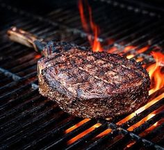 There's something about a bone-in-ribeye that gets to the essence of what grilling is all about. . . Shout out to @steaktoronto. . . . #BBQ #Que #Barbecue #Grill #Grilled #Grilling #Churrasco #Churrascada #Domingando #Carnivore #Carne #Somosdacarne #Meatlovers #BeefLover #RedMeat #Chimichurri #Tomahawk #CowboyRibeye #Ribeye #BoneInRibeye #Steak #SteakLover #Food #Foodgasm #Foodie #Foodies #FoodPhotography #FoodPics #ChefsKnife #Foodstagram