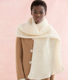Honeycomb Stitch Scarf