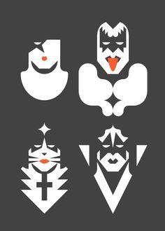 Re-Vision es un ejercicio de estilo y de síntesis de diferentes iconos culturales. Se trata de una serie de retratos de los personajes más representativos del mundo del cómic, del cine, de la televisión, del deporte y de la música.