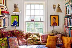 Boho window seat | Rikki Snyder Photography