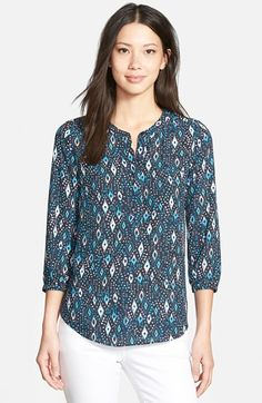 NYDJ+Henley+Blouse+(Regular+&+Petite)+available+at+#Nordstrom