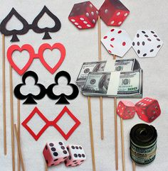 Casino Royale Photo Props Dice bowtie card by livelaughlovelots, $35.00
