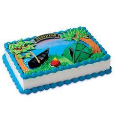 field, birthday parti, camp cake, camp parti, camping, cakes, cake decor, cake kit, cake toppers