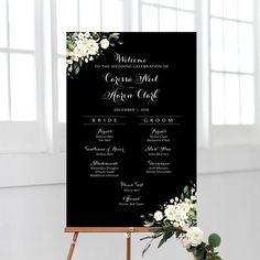 Items similar to Wedding Program Sign Wedding Program Sign, Ceremony Programs, Wedding Signs, Cream Roses, Rustic Theme, Floral Bouquets, Bride Groom, Greenery, Backdrops