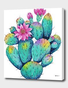 Cactus Drawing, Cactus Painting, Watercolor Cactus, Cactus Art, Cactus Flower, Flower Art, Watercolor Paintings, Cactus With Flowers, Cactus Doodle