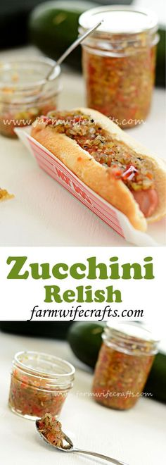 Zucchini Relish Looking for something to do with all that zucchini in your garden? This zucchini relish is so good! My family prefers it over pickle relish. Relish Recipes, Canning Recipes, Canning Tips, Tapas Recipes, Recipies, Cuisine Diverse, Pesto, The Best, Clean Eating