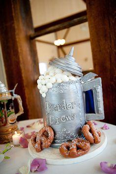 Groom cake.  Made of beer and pretzels.