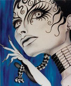 """""""Hollis"""" one of my paintings by Chris O'Leary art of alizarinkryz"""
