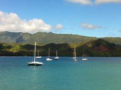 Hanalei Bay, Kauai, Hawaii. Eye of the Dragon..