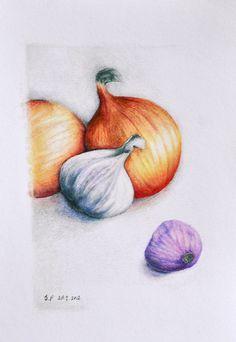 Still life - Original coloured pencil drawing - Prismatixs - Tekeningen