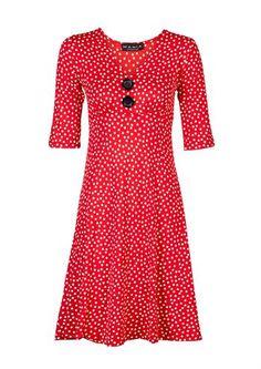 Mania Copenhagen kjole BIBBI red dotty