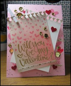 February 2015 Sparkliie Creations: Grungy Pink Valentine with Simon Says Stamp