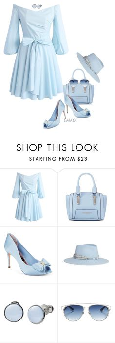 """Bell Sleeve Dress under $100"" by laila-bergan ❤ liked on Polyvore featuring Chicwish, Red Herring, Ted Baker, Maison Michel, Skagen and Christian Dior"
