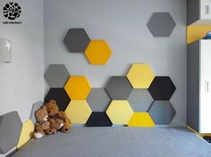 Ceiling Design, Wall Design, Upholstered Walls, Teenage Room, 3d Wall Panels, Gamer Room, Home Landscaping, Bed Wall, Playroom Decor