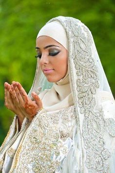 hijabi bride  Sponsor a poor child learn Quran with $10, go to FundRaising http://www.ummaland.com/s/hpnd2z