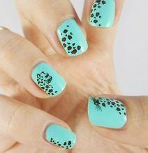 1 folha Animal do Leopardo Da Folha Da Arte Do Prego Adesivos de Transferência de Água Manicure Decal para Nail Art Tips DIY Styling Ferramentas de Beleza BLE581 alishoppbrasil