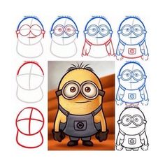 how to draw a minion! #Entertainment #Trusper #Tip