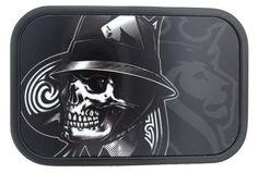 Reaper Skull Ace of Spades Belt Buckle by Buckle Down Black Stainless Steel NEW