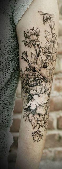 Floral Tattoo: