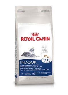 Indoor 7+ -  Für ausgewachsene #Katzen ab 7 Jahren, die nur im Hause leben. INDOOR 7+ enthält eine Zusammenstellung ausgesuchter #Nährstoffe und essenzieller Fettsäuren, die der #Katze helfen, selbst bei den ersten Anzeichen der #Alterung vital zu bleiben. http://www.royal-canin.de/katze/produkte/im-fachhandel/nahrung-nach-mass/ab-7-jahre/indoor-7/eigenschaften/