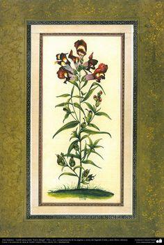 """تذهیب فارسی سبک گل و پرنده - مورد استفاده برای تزئینات صفحات و متون کتاب های با ارزش Tazhib of persian style """"Gol-o Morgh"""" -Bird and Flower"""
