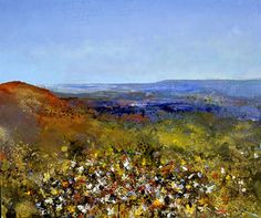 Butterflies Above the Cork Oak Forest above the Med - 2008 -  Kurt Jackson : Forest Gardens