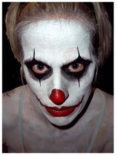 clowns are always one of the most popular design choices for both men and women! halloween makeup, face painting,
