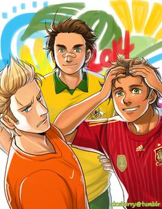 FIFA World Cup 2014: Netherlands, Australia, and Spain - Art by ctcsherry.tumblr.com