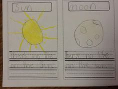 Sun an Moon Fun Earth And Space Science, Earth From Space, Help Teaching, Teaching Science, Weather Unit, Space Aliens, First Grade, Social Studies, Kindergarten