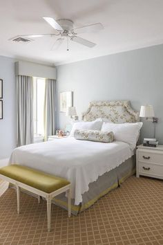 Yellow and Gray Bedrooms, Transitional, Bedroom