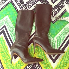 ❤️🎉❤️Authentic Manolos! Brown leather boots. Hardly worn Manolo Blahnik brown leather boots with full zip up back. I love them, I just don't wear them. 2.5 inch heel. 14 inches around top of leg opening. Gorgeous! (No box) Manolo Blahnik Shoes Heeled Boots