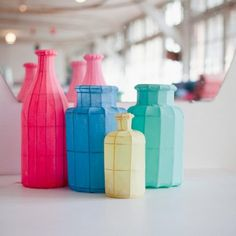 Bottle paper lanterns by petit pan